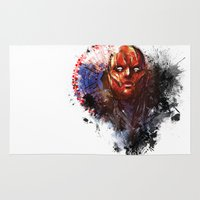 red hood Area & Throw Rugs featuring Red Hood by Vincent Vernacatola