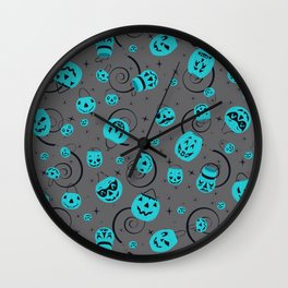 Halloween Magic- Teal Pumpkin Project Wall Clock