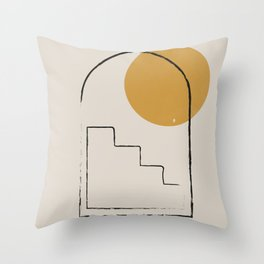 Abstract Art, Arch Minimalist line drawing Throw Pillow