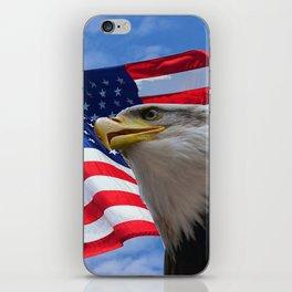 American Flag and Bald Eagle iPhone Skin