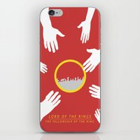 lord of the rings iPhone & iPod Skins featuring Lord of the Rings by KirstenJudkins