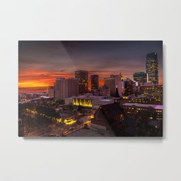 OKC MORNING GLOOM Metal Print