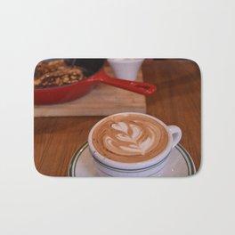 Caffe Macchiato with Breakfast - Cafe or Kitchen Decor Bath Mat