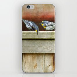 Two Warblers on The Fence iPhone Skin