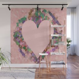 Old Fashioned Pink Heart Wall Mural