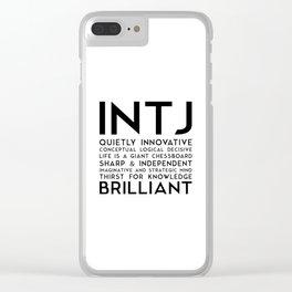INTJ Clear iPhone Case