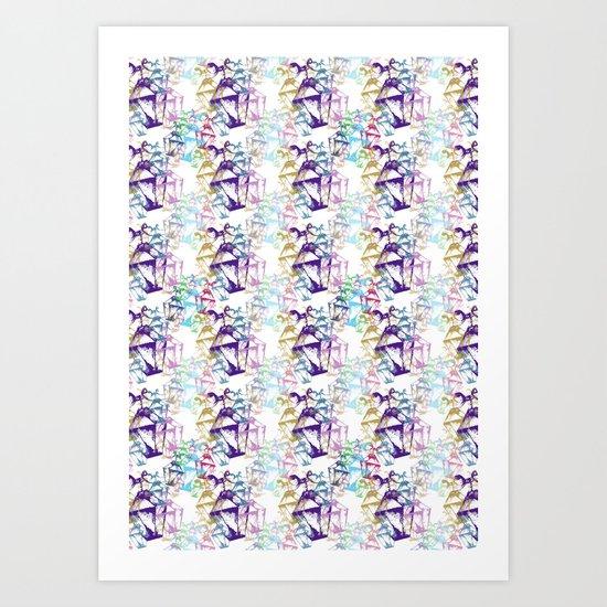 Lamp repeat White Art Print