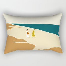 women at tulum Rectangular Pillow