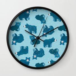 Snow Bears Wall Clock