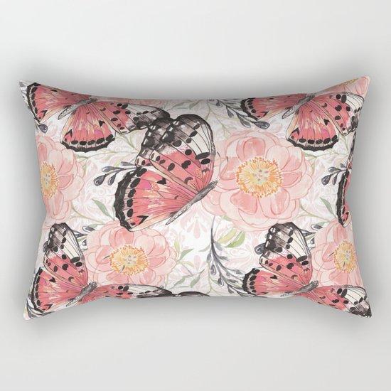 Flowers & butterflies #3 Rectangular Pillow