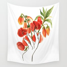 botanical hands Wall Tapestry