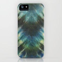 Tie Dye Blue Green 13 iPhone Case