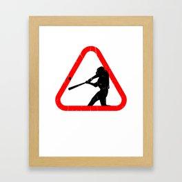 Good Baseball Tee Framed Art Print