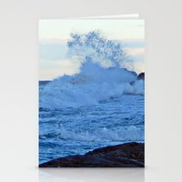 geology Stationery Cards featuring Exploding Surf  by DanByTheSea