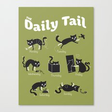 The Daily Tail Cat Canvas Print