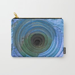 Mysterious Hole in Mountainside: Bright Blue Version Carry-All Pouch