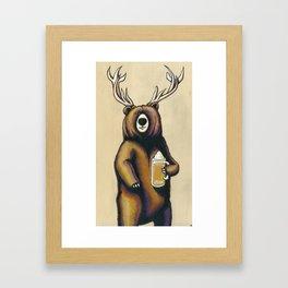 Beer is my spirit animal. Framed Art Print