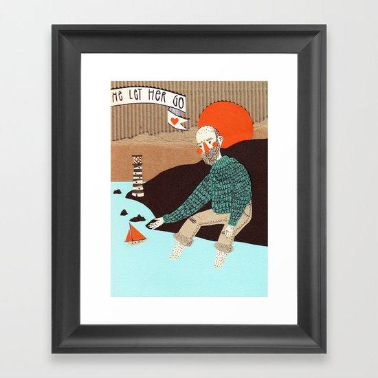 He let her go Framed Art Print