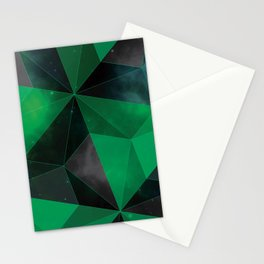 Shattered Green Stationery Cards
