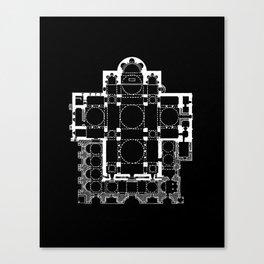 San Marco Plan Canvas Print