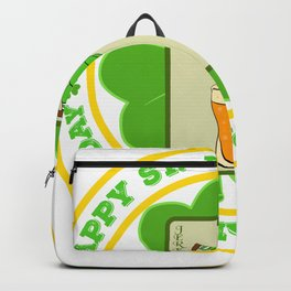 "Guys! Have This St. Patrick's Tee Saying ""Happy St. Patrick's Day"" T-shirt DesignFour-Cleaf Clover Backpack"