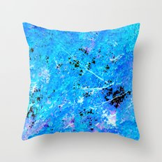 Turquoise Aqua purple trees Throw Pillow