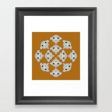Sheep Circle - 2 Framed Art Print