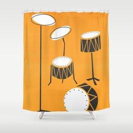 Drum Kit Drummer Shower Curtain