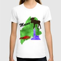 maine T-shirts featuring Maine by Nova Jarvis