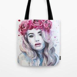 Red Rose Crown Tote Bag