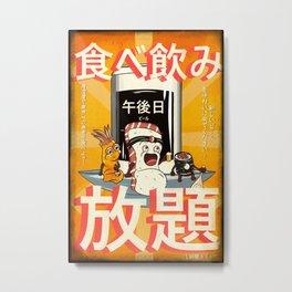 Sushi and beer - Izakaya Metal Print