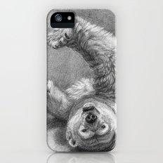 Polar Bear Stretching G039 Slim Case iPhone (5, 5s)