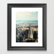 Vintage Colors. Chrysler Building, New York. Framed Art Print