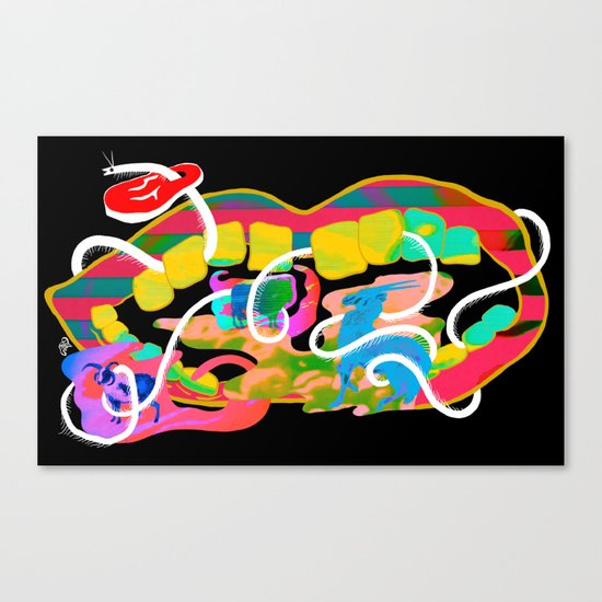 """Centipede Hz"" by Steven Fiche Canvas Print"