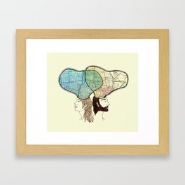 when i dream, i connect the interstates Framed Art Print