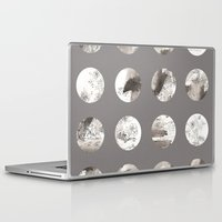 moon phases Laptop & iPad Skins featuring Moon phases by Dreamy Me