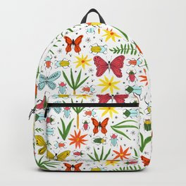 bright bugs butterflies and blooms Backpack