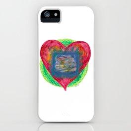 Heart of the soul mandala iPhone Case