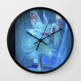 The Blue Fairy Wall Clock