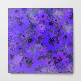 Heavenly Blue Garden Metal Print