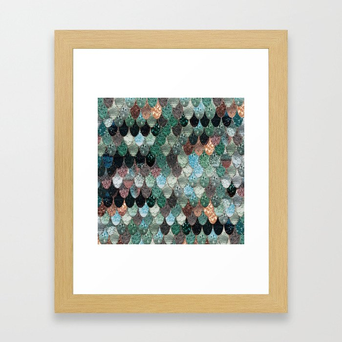 SUMMER MERMAID SEAWEED MIX by Monika Strigel Framed Art Print