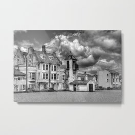 South Lookout Tower Aldeburgh Black and White Metal Print