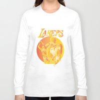 lakers Long Sleeve T-shirts featuring Lakers by Istvan Antal