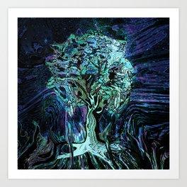 Starry Night Tree of Life Art Print