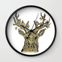 Hirsch gold Wall Clock