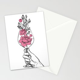 wineglass Stationery Cards