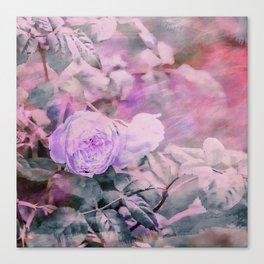 Romantic Rose Soft Pastel Colors Canvas Print