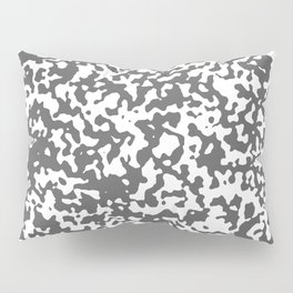 Small Spots - White and Dark Gray Pillow Sham