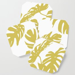 Simply Mod Yellow Palm Leaves Coaster