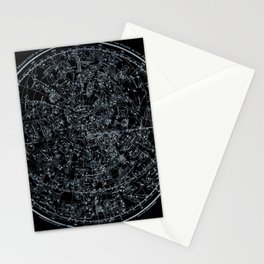 Northern Hemisphere Constellations White Blue Stationery Cards